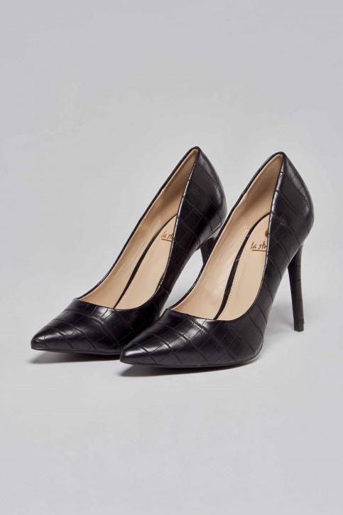 La Strada Pumps zwart 1700173_CROCO BLACK img1