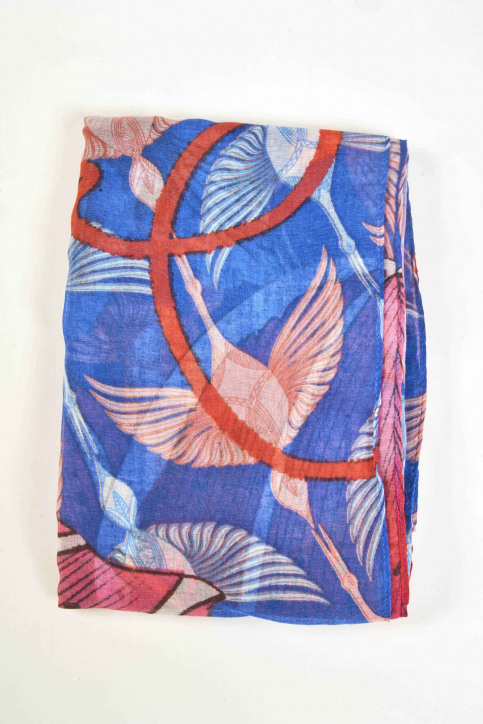 Desigual Zomersjaals blauw 19SAWF33_ROUGE RED img1