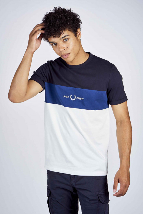 Fred Perry T-shirts (manches courtes) bleu 2002M8624_608 NAVY img1