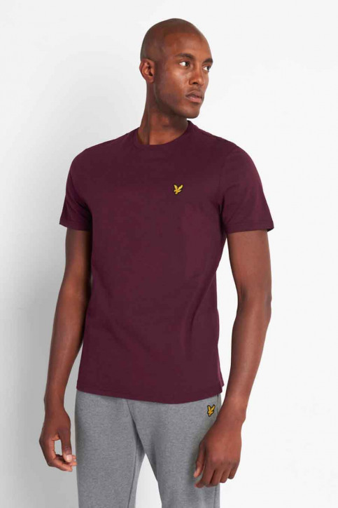 LYLE SCOTT T-shirts (manches courtes) bordeaux 2002TS400V_Z562 BURGUNDY img1