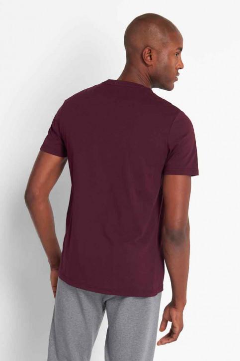 LYLE SCOTT T-shirts (manches courtes) bordeaux 2002TS400V_Z562 BURGUNDY img2