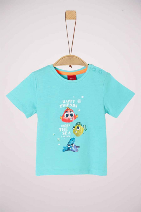S. Oliver T-shirts manches courtes 2037260_6224 TURQUOISE img1