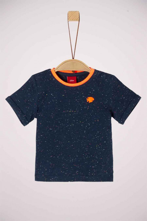 S. Oliver T-shirts manches courtes 2037267_57W6 BLUE MELAN img1