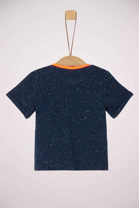 S. Oliver T-shirts manches courtes 2037267_57W6 BLUE MELAN img2