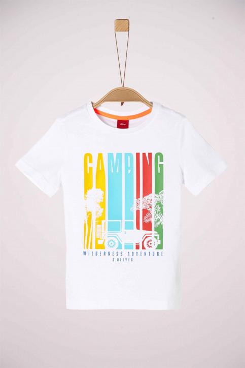 S. Oliver T-shirts met korte mouwen wit 2038053_0100 WHITE img1