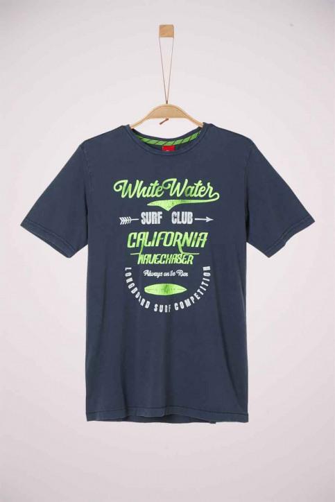 S. Oliver T-shirts met korte mouwen blauw 2038355_5798 DARK BLUE img1
