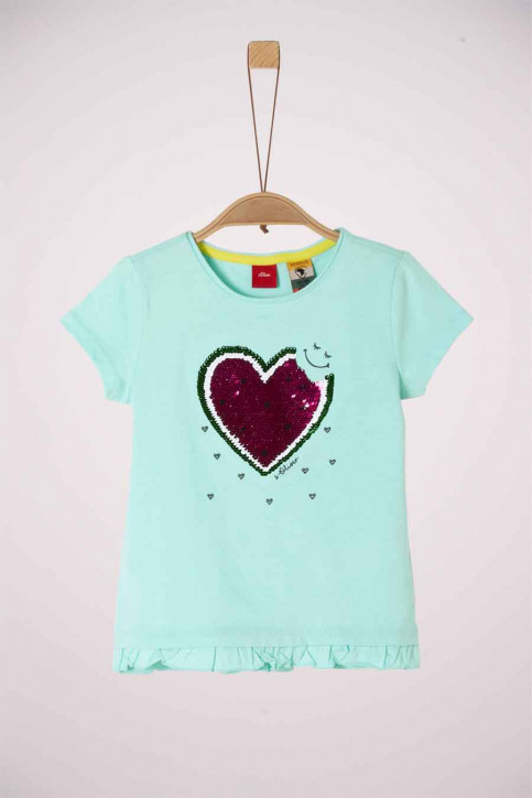 S. Oliver T-shirts manches courtes turquoise 2038508_6006 LIGHT MINT img1