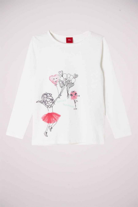 S. Oliver T-shirts manches longues blanc 2041125_0210 OFF WHITE img1