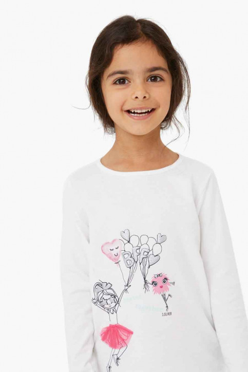 S. Oliver T-shirts manches longues blanc 2041125_0210 OFF WHITE img2