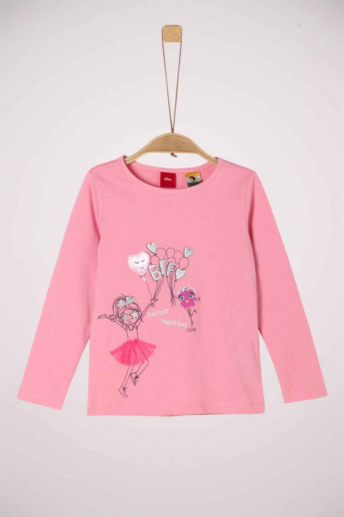 S. Oliver T-shirts manches longues rose 2041125_4326 LIGHT PINK img1