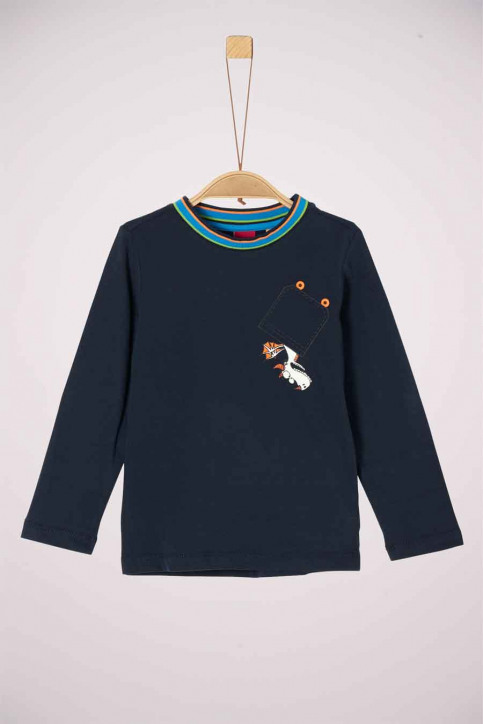 S. Oliver T-shirts manches longues 2041837_5952 DARK BLUE img1