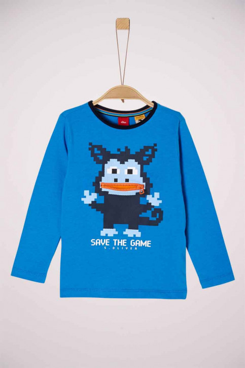 S. Oliver T-shirts manches longues 2041859_5519 BLUE img1