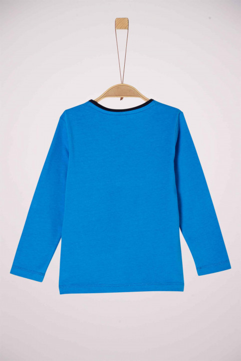 S. Oliver T-shirts manches longues 2041859_5519 BLUE img2