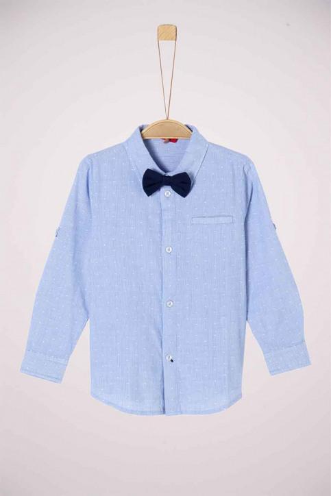 S. Oliver Chemises manches longues bleu 2042145_53N4 LIGHT BLUE img1