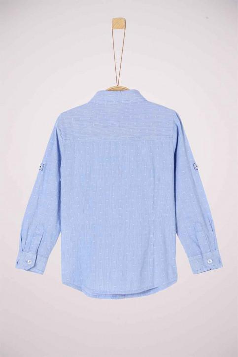 S. Oliver Chemises manches longues bleu 2042145_53N4 LIGHT BLUE img2