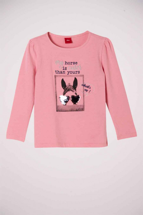 S. Oliver T-shirts manches longues rose 2042966_4326 LIGHT PINK img1