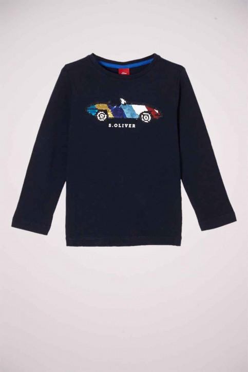 S. Oliver T-shirts manches longues bleu 2058284_5952 DARK BLUE img1