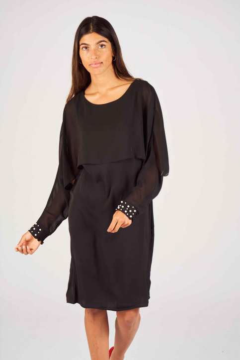 Fransa Jurken (kort) zwart 20605064_60096 BLACK img1