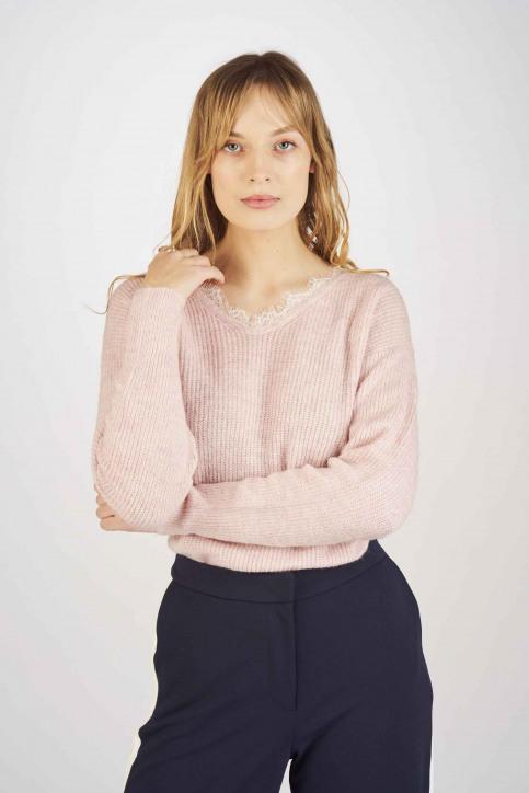 Fransa Truien met V-hals roze 20605262_67186 CRADLE PI img1