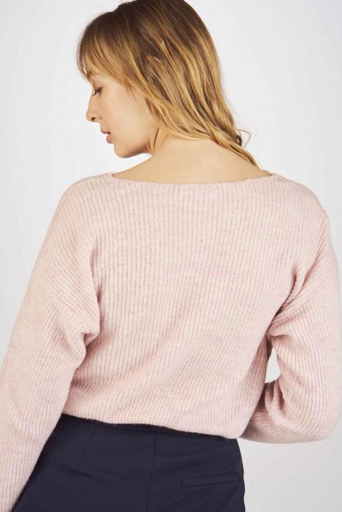Fransa Truien met V-hals roze 20605262_67186 CRADLE PI img3
