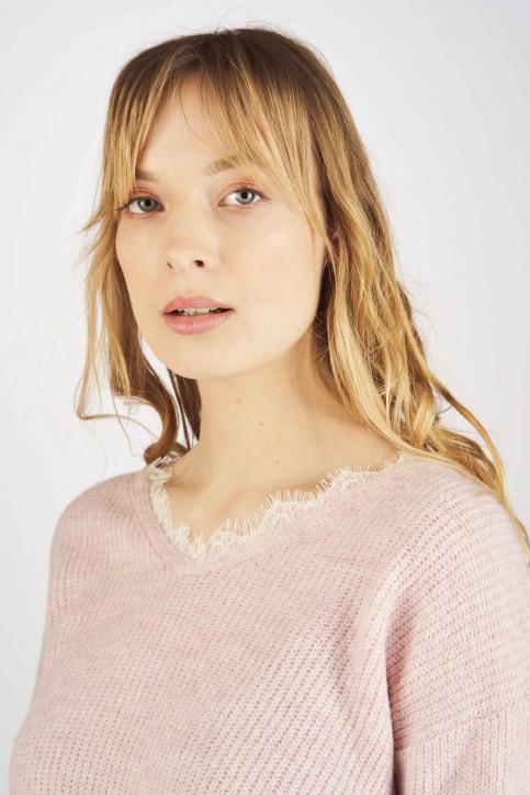 Fransa Truien met V-hals roze 20605262_67186 CRADLE PI img4