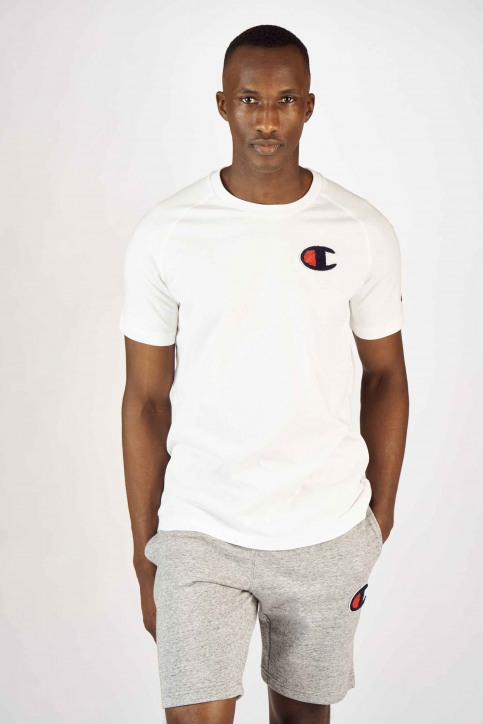 Champion T-shirts (korte mouwen) wit 213198WW001WHI_WW001 WHT img1