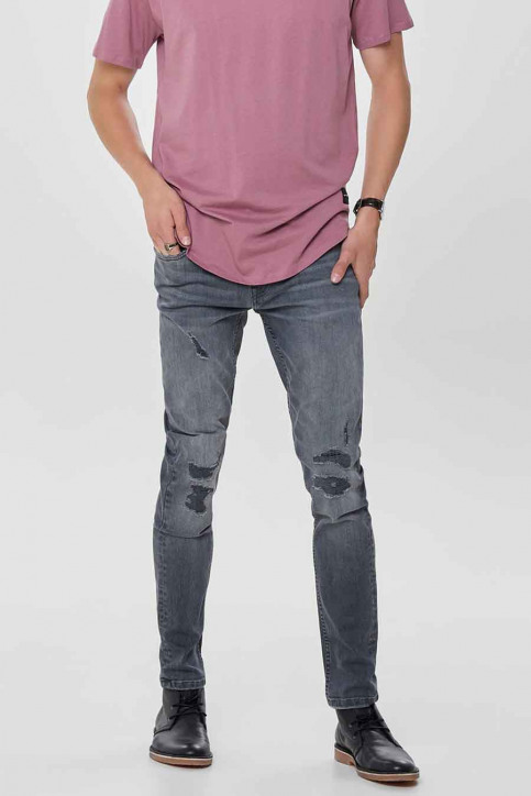 ONLY & SONS Jeans tapered denim 22010440_0440GREY REPAI img1