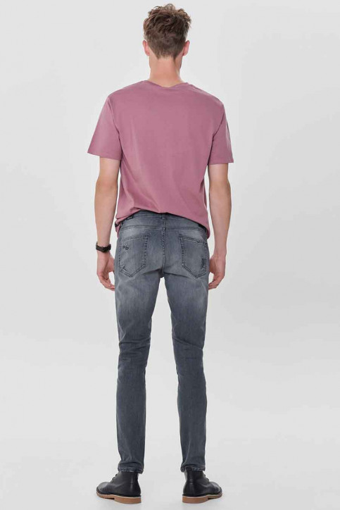 ONLY & SONS Jeans tapered denim 22010440_0440GREY REPAI img3