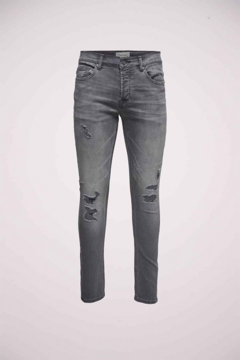 ONLY & SONS Jeans tapered denim 22010440_0440GREY REPAI img5