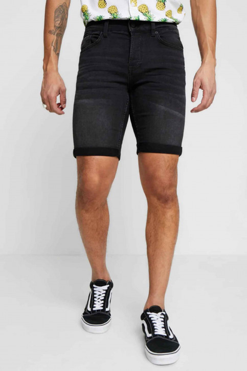 ONLY & SONS Shorts zwart 22012021_BLACK DENIM img1