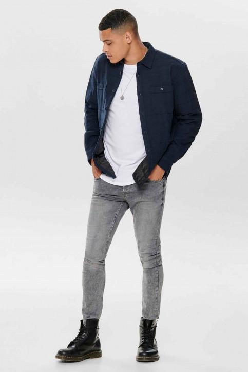 ONLY & SONS® Hemden (lange mouwen) blauw 22013899_DARK NAVY img1