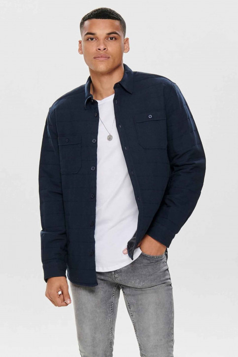 ONLY & SONS® Hemden (lange mouwen) blauw 22013899_DARK NAVY img2
