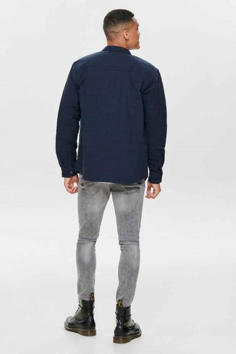 ONLY & SONS® Hemden (lange mouwen) blauw 22013899_DARK NAVY img3