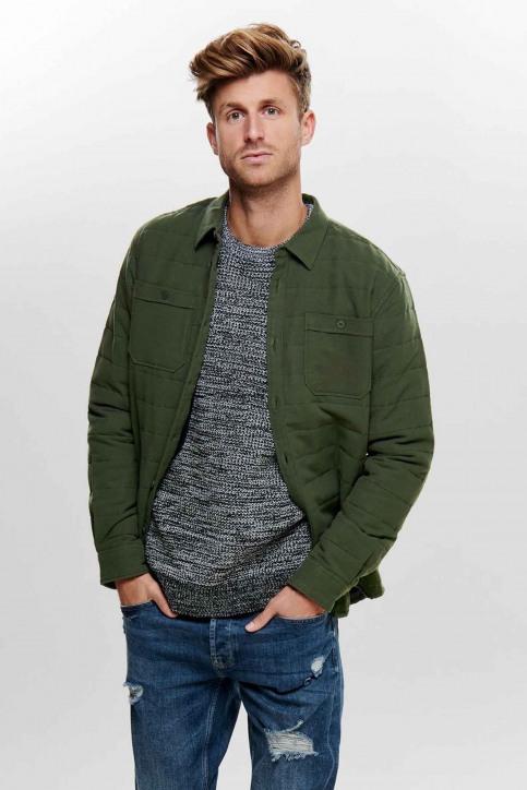 ONLY & SONS® Hemden (lange mouwen) groen 22013899_FOREST NIGHT img2