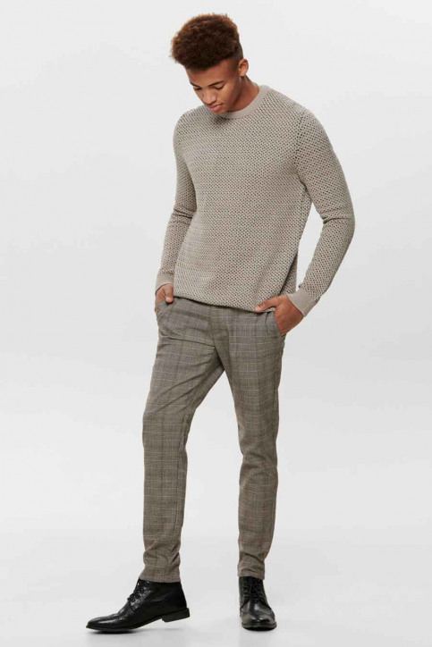 ONLY & SONS Broeken taupe 22014198_CHINCHILLA img2