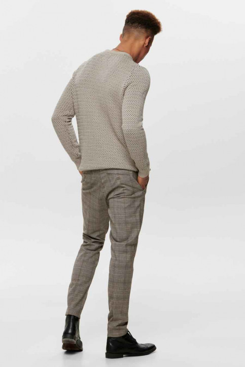 ONLY & SONS Broeken taupe 22014198_CHINCHILLA img3