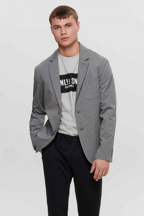 ONLY & SONS® Blazers gris 22015852_MEDIUM GREY MEL img1