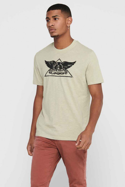 ONLY & SONS T-shirts (korte mouwen) wit 22017752_PELICAN img1
