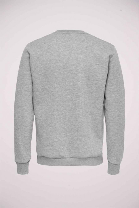 ONLY & SONS Sweats col O gris 22018683_LIGHT GREY MELA img6