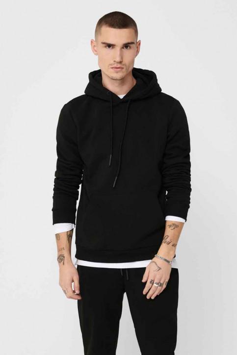 ONLY & SONS® Sweaters met kap zwart 22018685_BLACK img1