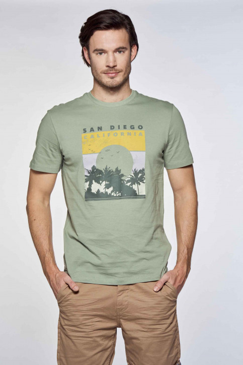 ONLY & SONS® T-shirts (korte mouwen) groen 22019297_HEDGE GREEN img2