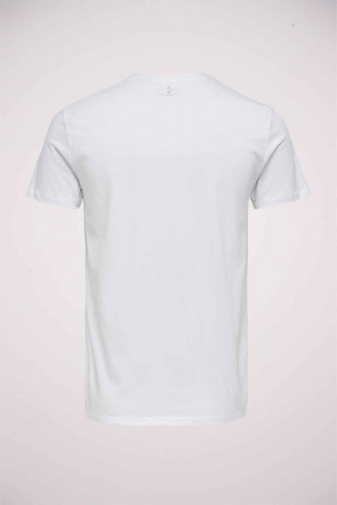 ONLY & SONS T-shirts (korte mouwen) wit 22020215_WHITE img2