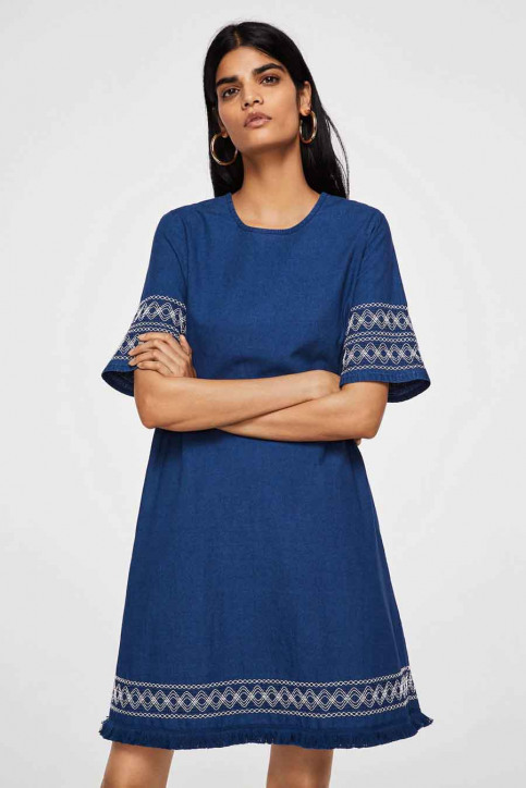 MANGO Robes courtes bleu 23033613_MNG_18_OPEN BLUE img1