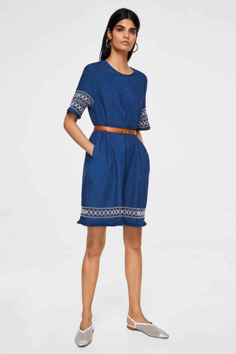 MANGO Robes courtes bleu 23033613_MNG_18_OPEN BLUE img2