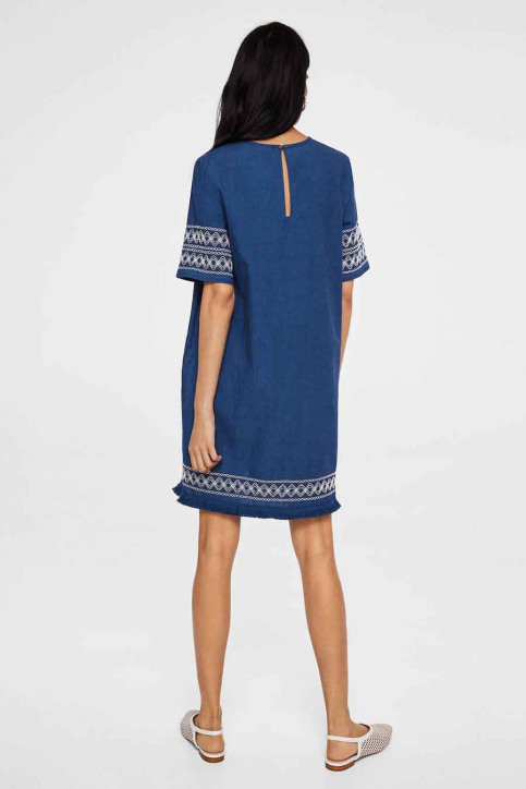 MANGO Robes courtes bleu 23033613_MNG_18_OPEN BLUE img3