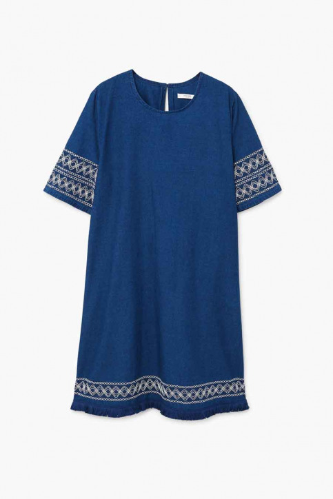 MANGO Robes courtes bleu 23033613_MNG_18_OPEN BLUE img5