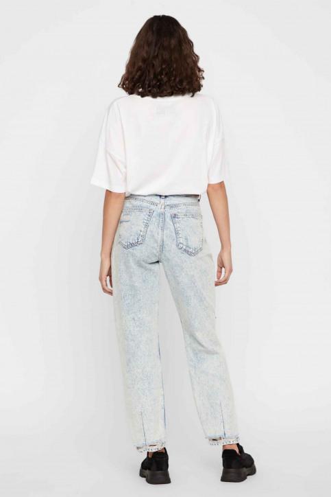 Noisy May T-shirts (korte mouwen) wit 27012230_BRIGHT WHITE img3