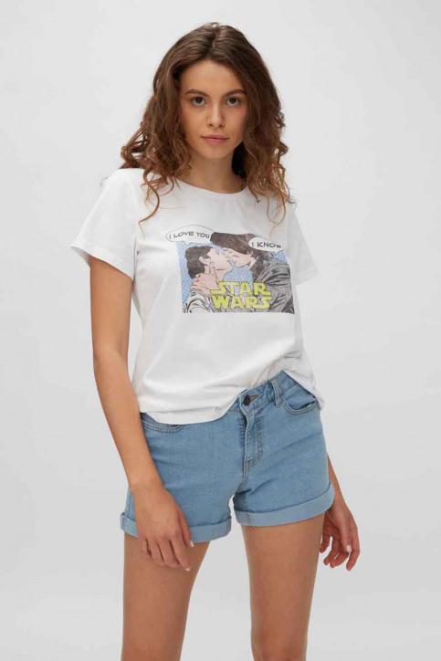 NOISY MAY T-shirts (korte mouwen) wit 27013599_BRIGHT WHITE ST img1