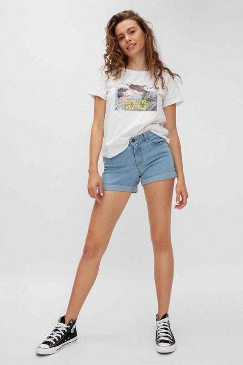 NOISY MAY T-shirts (korte mouwen) wit 27013599_BRIGHT WHITE ST img2