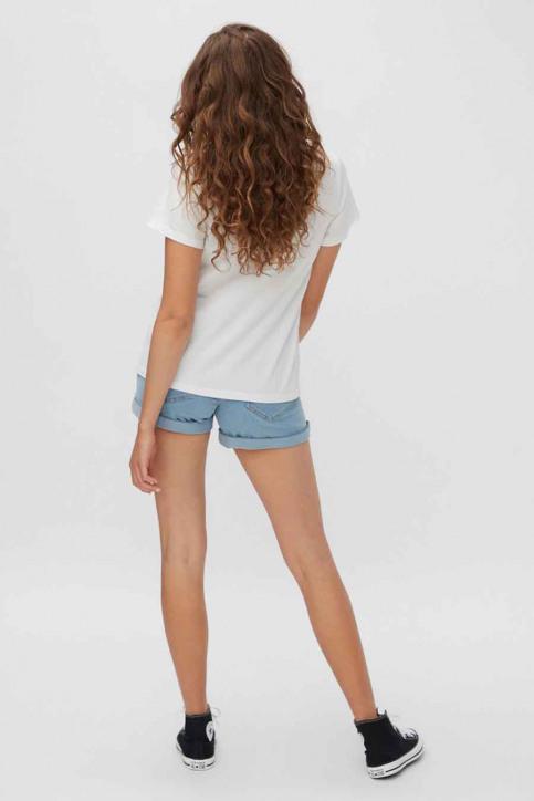 NOISY MAY T-shirts (korte mouwen) wit 27013599_BRIGHT WHITE ST img3